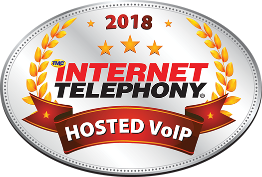 2018 Internet Telephony Hosted VoIP Excellence Award Logo