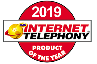 2019 Internet Telephony Hosted VoIP Excellence Award Logo